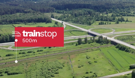 commercial land Latvia near train station